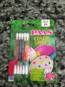 PAAS Color Snaps for dying Easter Eggs. Super Easy and less mess. Great for younger children